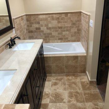 Shane & Georgiann Quartararo Master Bathroom-Before and After